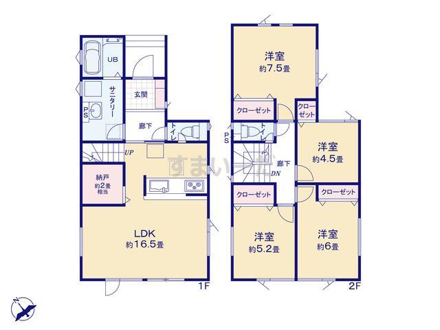 グラファーレ 札幌市太平4期2棟の見取り図