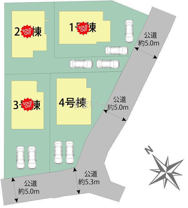 ブルーミングガーデン 神戸市西区玉津町今津4棟-長期優良住宅-の見取り図