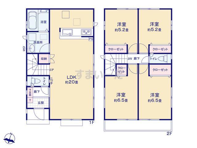 グラファーレ 小田原市飯田岡8棟の見取り図
