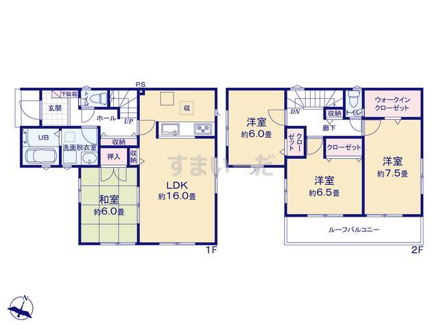 リナージュ 静岡市清水区吉川20-1期の見取り図