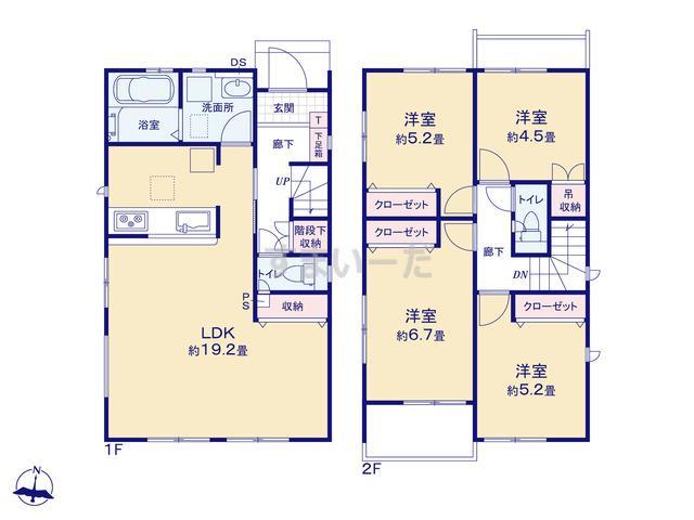 グラファーレ 名古屋市伏屋3期3棟の見取り図
