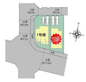 ブルーミングガーデン 名古屋市名東区猪子石1丁目2棟の見取り図