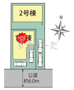 ブルーミングガーデン 名古屋市西区歌里町2棟の見取り図