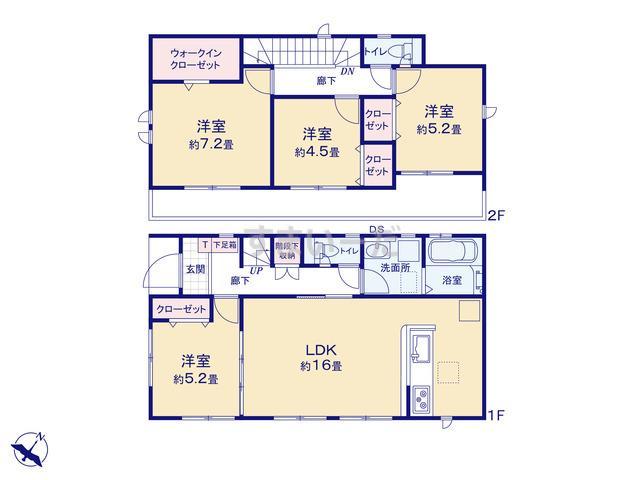 グラファーレ 名古屋市中平3棟の見取り図