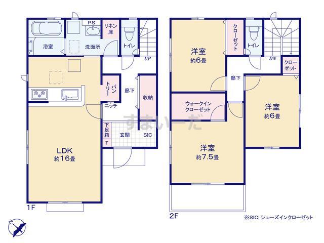 グラファーレ 千葉市千城台西3期2棟の見取り図