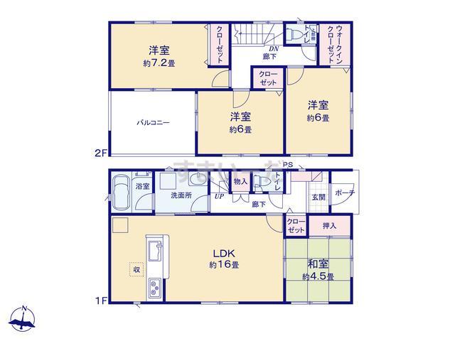 クレイドルガーデン 熊本市南区城南町千町 第1の見取り図