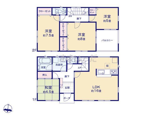 クレイドルガーデン 熊本市南区城南町千町 第1-II期の見取り図