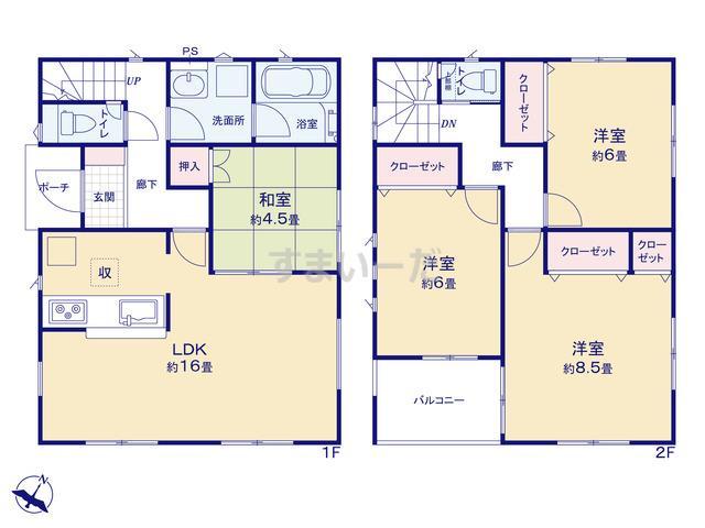 クレイドルガーデン 千葉市若葉区桜木北 第3の見取り図