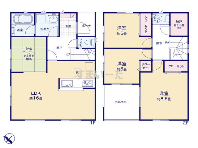 クレイドルガーデン 神戸市垂水区神和台 第2の見取り図