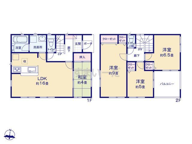 クレイドルガーデン 熊本市中央区萩原町 第1の見取り図