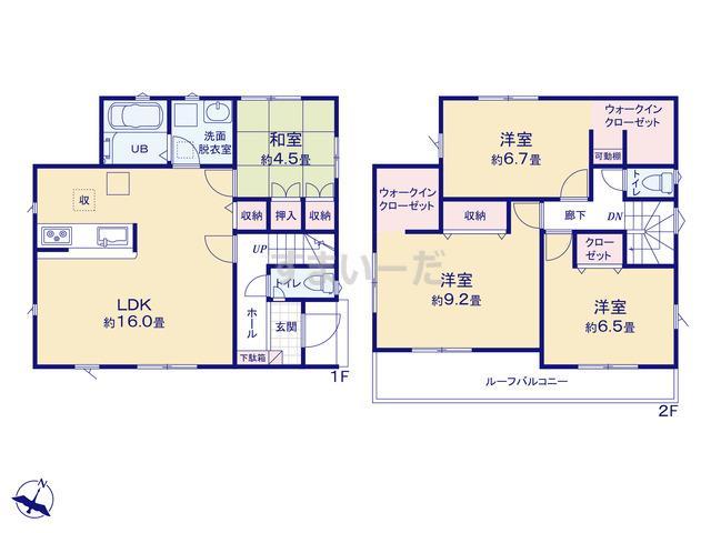 リナージュ 静岡市清水区村松20-1期の見取り図
