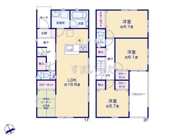 クレイドルガーデン 神戸市垂水区学が丘 第5の見取り図