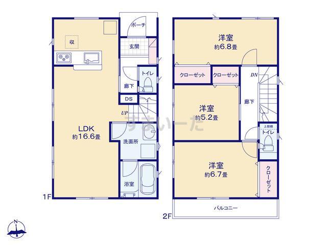 クレイドルガーデン 横浜市保土ヶ谷区常盤台 第4の見取り図