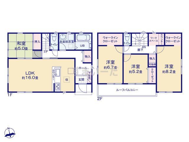 リナージュ 浜松市東区上石田町20-1期の見取り図
