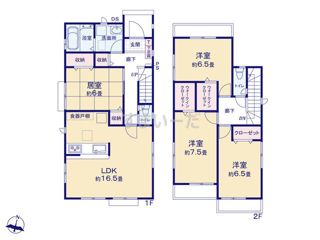 グラファーレ 仙台市上飯田7期2棟の見取り図