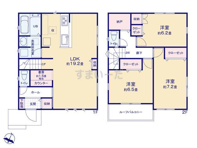 リナージュ 横浜市港南区日限山20-1期の見取り図
