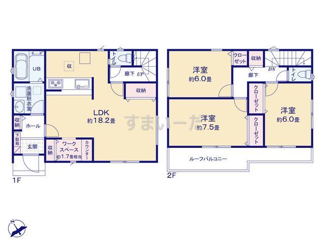 リナージュ 相模原市中央区横山20-1期の見取り図