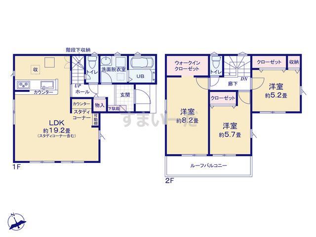 リナージュ 福岡市城南区片江20-1期の見取り図