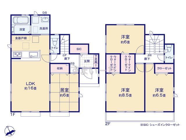 グラファーレ 仙台市四郎丸9期4棟の見取り図