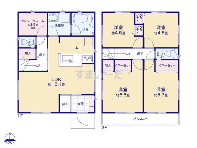 クレイドルガーデン 仙台市太白区袋原 第12の見取り図