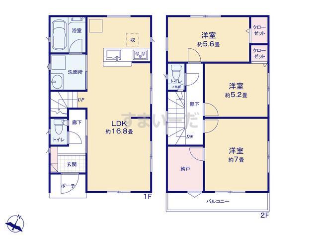 クレイドルガーデン 横浜市金沢区釜利谷東 第4の見取り図