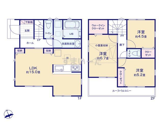 リナージュ 川崎市宮前区野川20-1期の見取り図