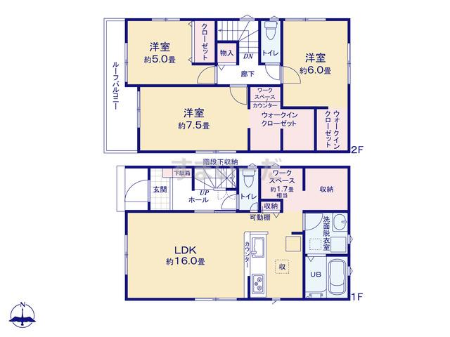 リナージュ 広島市東区中山鏡が丘20-1期の見取り図