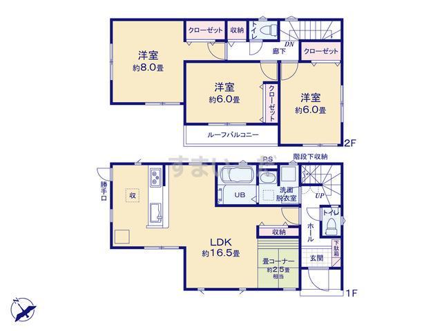 リナージュ 横浜市旭区都岡町20-1期の見取り図