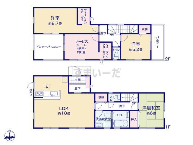 リーブルガーデン 京都北区紫野東藤ノ森町の見取り図