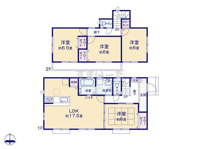 グラファーレ 横浜市笹下5期1棟の見取り図