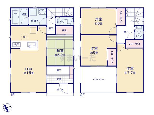 クレイドルガーデン 仙台市泉区山の寺 第10の見取り図