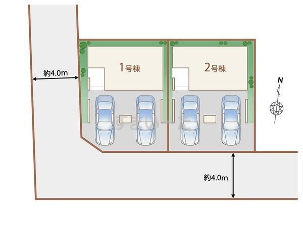 ハートフルタウン 仙台太子堂の見取り図
