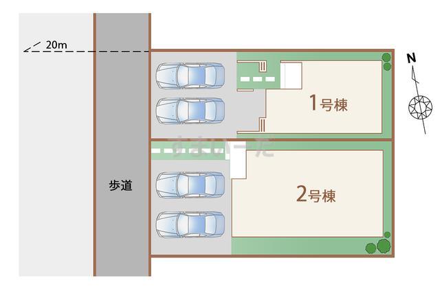 ハートフルタウン 仙台福室8期の見取り図