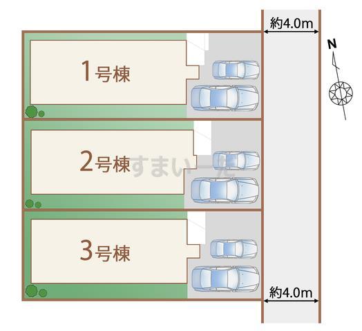 ハートフルタウン 仙台高松7期の見取り図