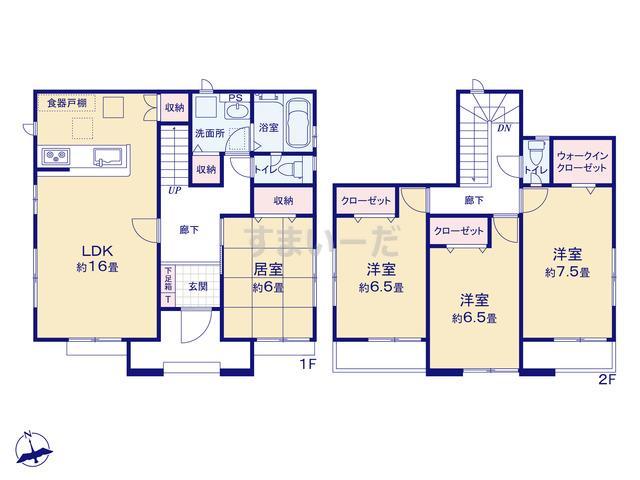 グラファーレ 仙台市白鳥3期3棟の見取り図