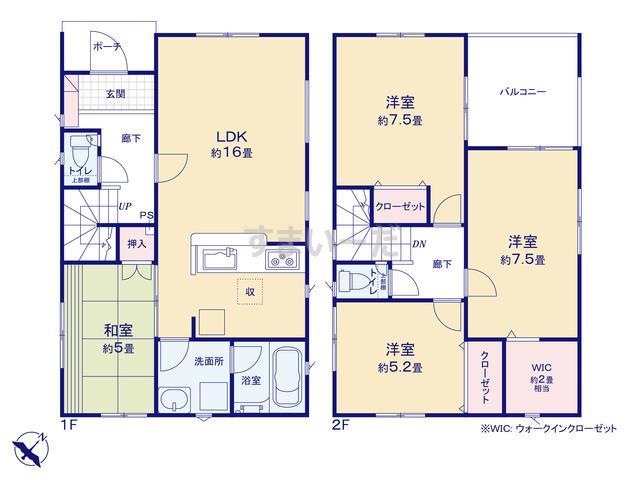 クレイドルガーデン 新潟市江南区亀田水道町 第3の見取り図