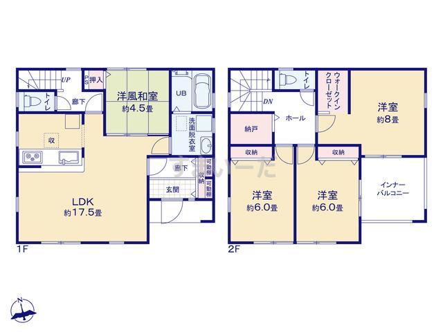 リーブルガーデン 青葉桜ヶ丘1丁目7期の見取り図