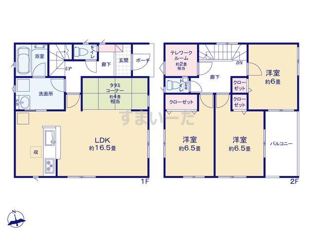 クレイドルガーデン 新潟市東区松園 第1の見取り図