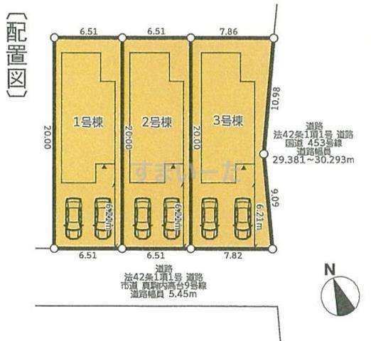 グラファーレ 札幌市真駒内柏丘3棟の見取り図