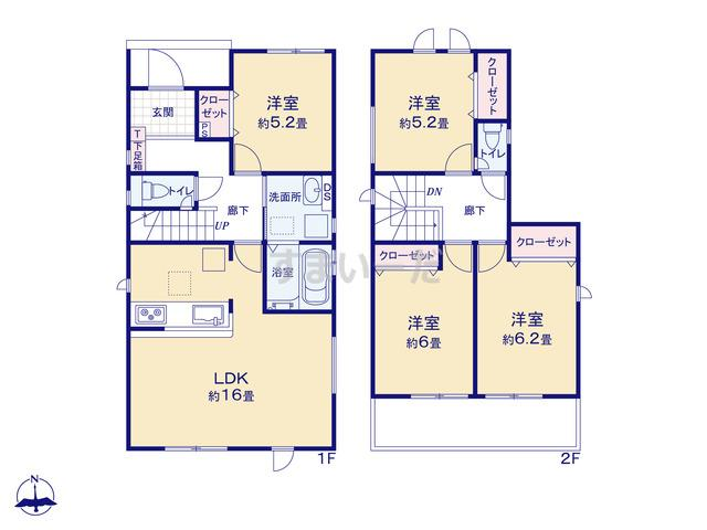 グラファーレ 名古屋市大西3期3棟の見取り図