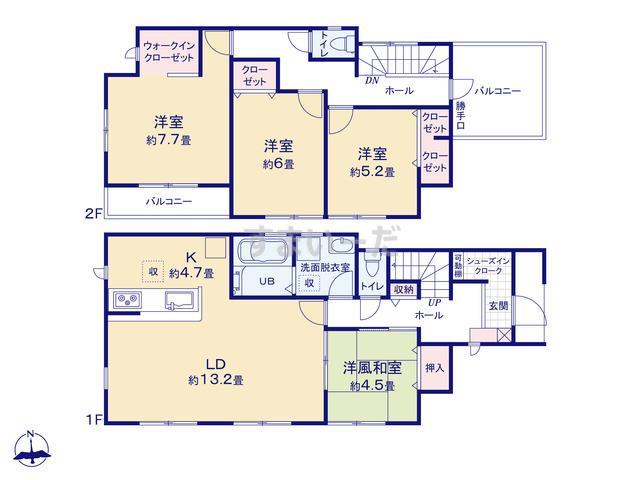 リーブルガーデン 東住吉区住道矢田4丁目4期の見取り図