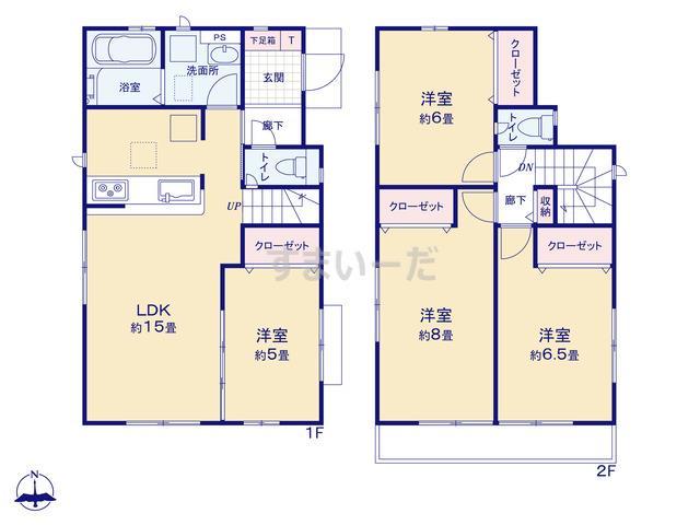 グラファーレ 横浜市東希望が丘1棟の見取り図
