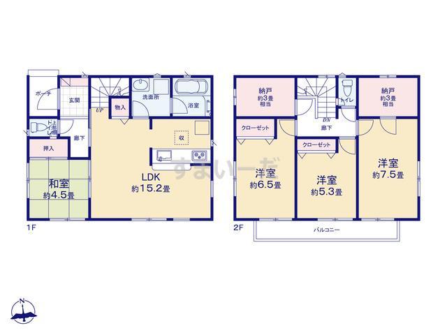 クレイドルガーデン 横浜市戸塚区名瀬町 第5の見取り図