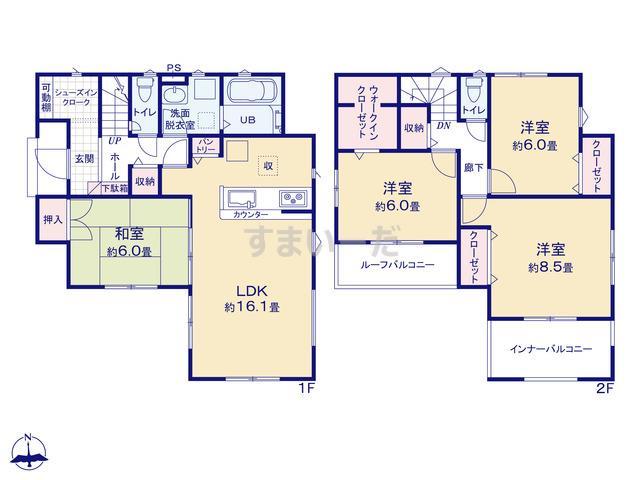 リナージュ さいたま市桜区塚本20-1期の見取り図