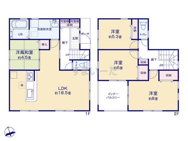 リーブルガーデン 神戸市北区菖蒲が丘5期の見取り図