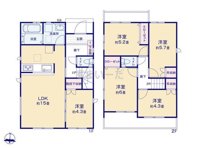 グラファーレ 名古屋市大手町2期1棟の見取り図