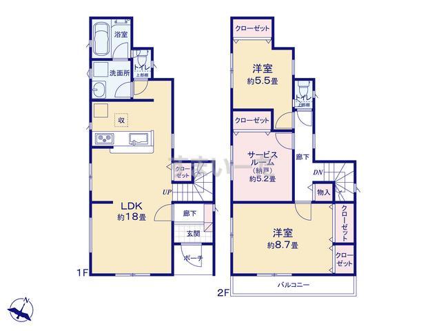 クレイドルガーデン 相模原市中央区千代田 第21の見取り図