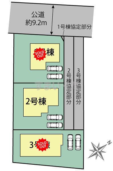 ブルーミングガーデン 名古屋市天白区土原3丁目2期3棟の見取り図