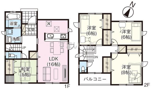 グラファーレ 新潟市坂井砂山3棟の見取り図