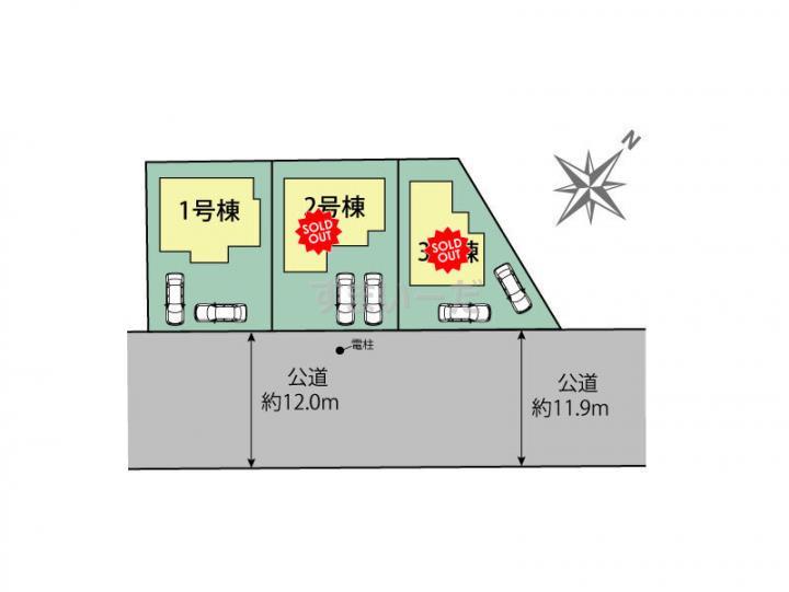 ブルーミングガーデン 福岡市博多区東月隈1丁目3棟-長期優良住宅-の見取り図